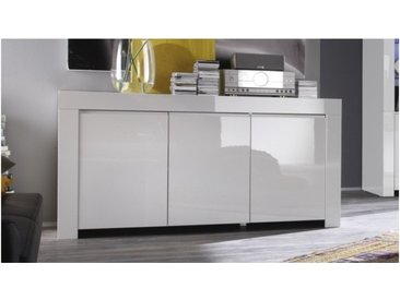 Buffet design 3 portes laqué blanc - Naomi