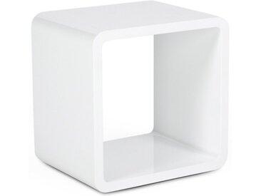 Table d'appoint ou chevet cube - Acton - Blanc