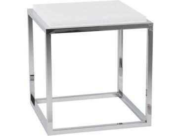 Table d'appoint ou chevet avec tablette - Ontario - Blanc