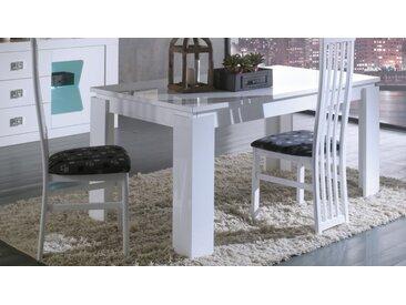 Table à manger design à rallonge - Orson - Laqué Blanc