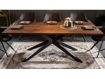 Table à manger design bois foncé - Nara