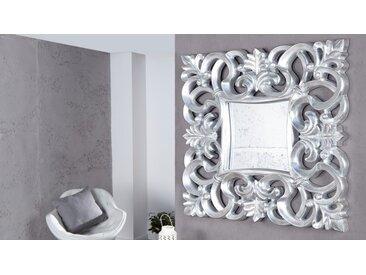 Miroir baroque moderne carré - Chester - Argenté