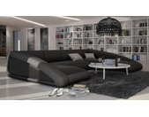 Canapé d'angle en cuir panoramique - Olten - Droit