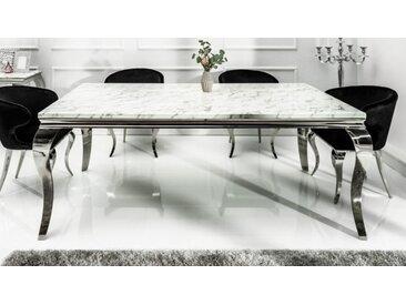 Table à dîner baroque plateau marbre - Zita - Longueur 200 cm