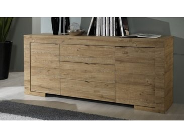 Bahut en bois 2 portes et 3 tiroirs - Karel
