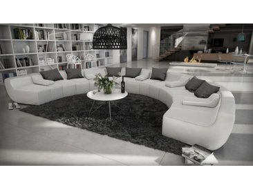 Canapé design en cuir panoramique - Keizer - Cuir + simili cuir