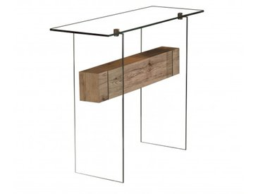 Console design verre et bois - Diana
