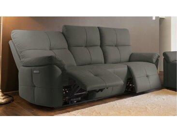Canapé relax capitonné design 3 places - Tokyo - Gris foncé 15