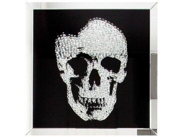 Tableau miroir design tête de mort - Howell - 100 x 100 cm