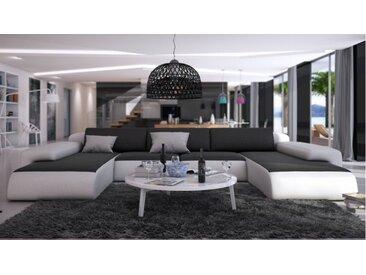 Canapé cuir de salon panoramique - Stolac - Cuir + simili cuir