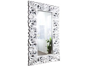 Grand miroir baroque rectangulaire - Chester - Argenté