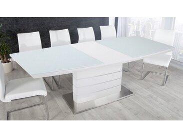 Table à manger blanche avec allonge - Maja