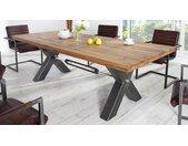 Table industrielle à manger rectangle - Jack - 240 x 100 cm