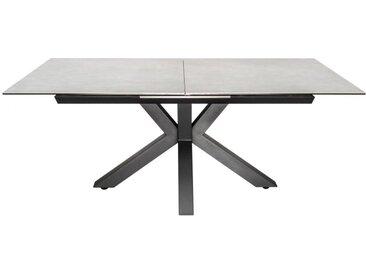 Table extensible verre et céramique - Dirce - Béton