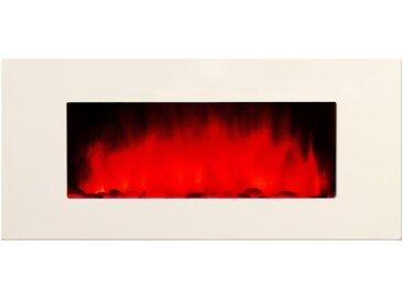 Cheminée décorative blanche - White Loft XXL - Pierres rouges