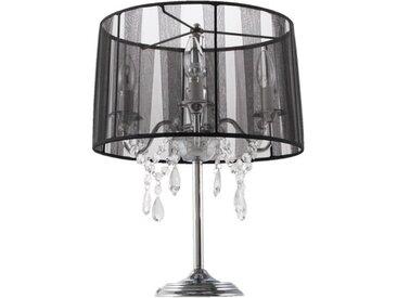 Lampe de chevet baroque à pampilles - Klassik JR - Noir