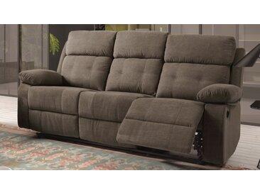 Canapé relax électrique en tissu 3 places - Norig - Tissu micro