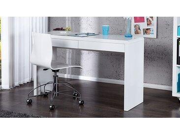 Bureau design blanc avec tiroirs - Sam