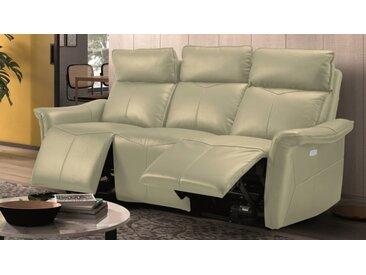 Canapé cuir relax 3 places électrique - Vadim - Gris 899