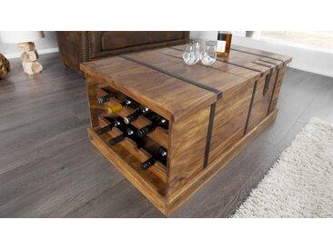 Table de salon bois coffre de rangement - Harald