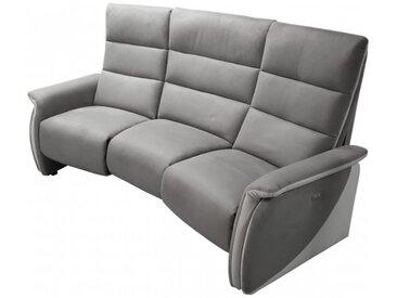 Canapé relax électrique home cinéma - Nitra - Tissu velouté G
