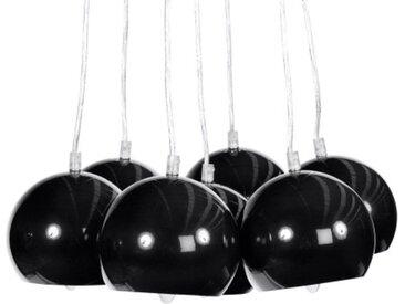 Lustre moderne à 7 suspensions - Bilbao - Noir