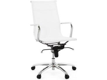 Fauteuil de bureau design en nylon blanc - Isaac