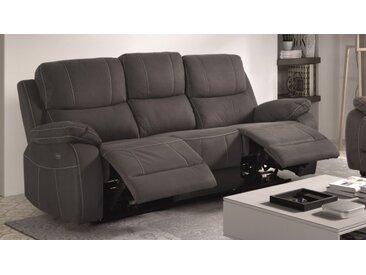 Canapé relax salon design en tissu 3 places - Russell - Tissu mi