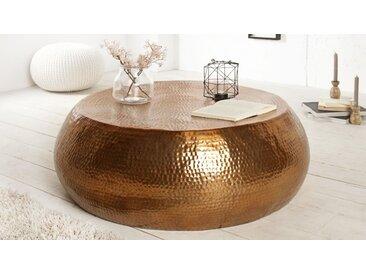 Table de salon ronde style oriental - Azaria - Cuivré