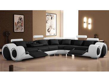 Canapé d'angle relax design en cuir - Carlson - Simili cuir