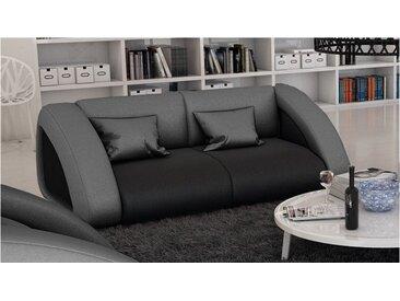 Canapé cuir 2 places design - Brooks - Cuir + simili cuir