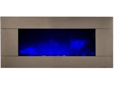 Cheminée design lumineuse inox - Pure XXL - Pierres transparente
