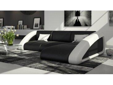 Canapé d'angle design en cuir - Hays - Assise + dossier Noir 902