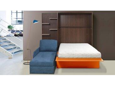 Lit escamotable 160x200 cm canapé d'angle - Joss - Gauche