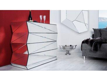 Commode miroir design 4 tiroirs - Hagen
