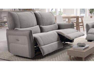 Canapé 3 places relax électrique - Dan - Gris foncé 95 / Liser