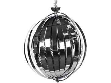 Suspension contemporaine ronde à lamelles - Capri - Chrome