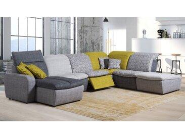 Canapé d'angle modulable relax tissu - Art - Droit