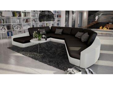 Canapé d'angle en cuir panoramique - Aiken - Gauche