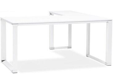 Bureau d'angle design en bois - Banner - Blanc