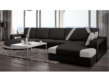 Canapé d'angle design cuir panoramique - Utena - Simili cuir