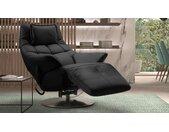 Fauteuil de relaxation électrique en cuir - Rimini - Noir 651