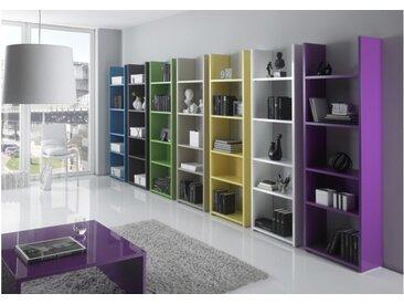 Bibliothèque moderne avec étagères - Mirko - Blanc