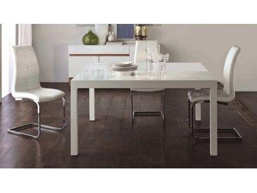 Table à manger carrée extensible laquée - Wat - Blanc