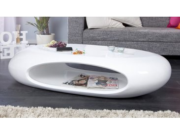 Table basse design blanche galet - Orono