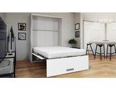 Lit escamotable vertical design - Clifford - Blanc