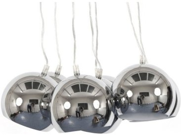 Lustre moderne à 7 suspensions - Bilbao - Chrome