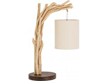 Petite lampe à poser bois flotté - Tobias