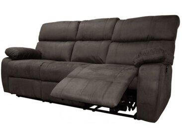 Canapé de relaxation 3 places électrique - Simon - Tissu velout