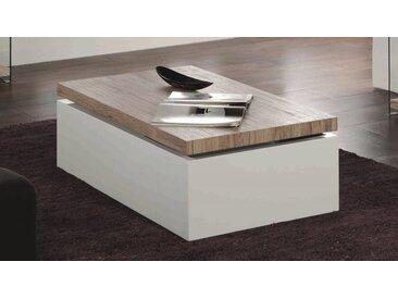 Table basse design blanche et bois - Jarl